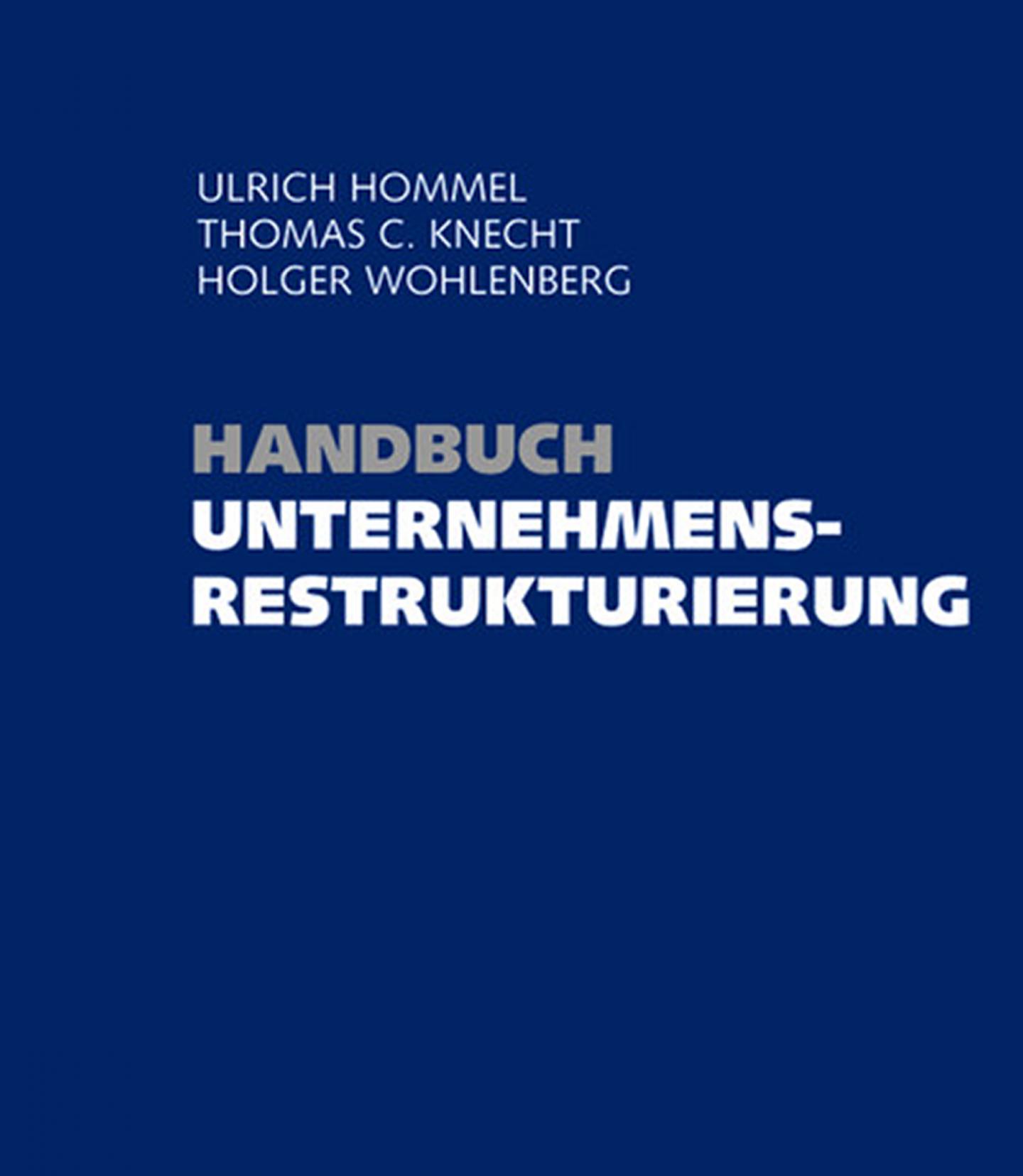 Buchcover Handbuch Unternehmensrestrukturierung