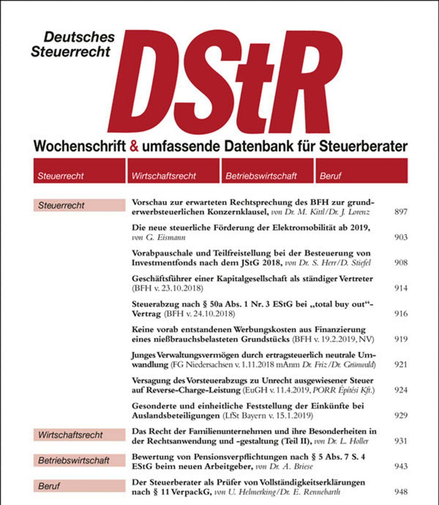 DStR Cover