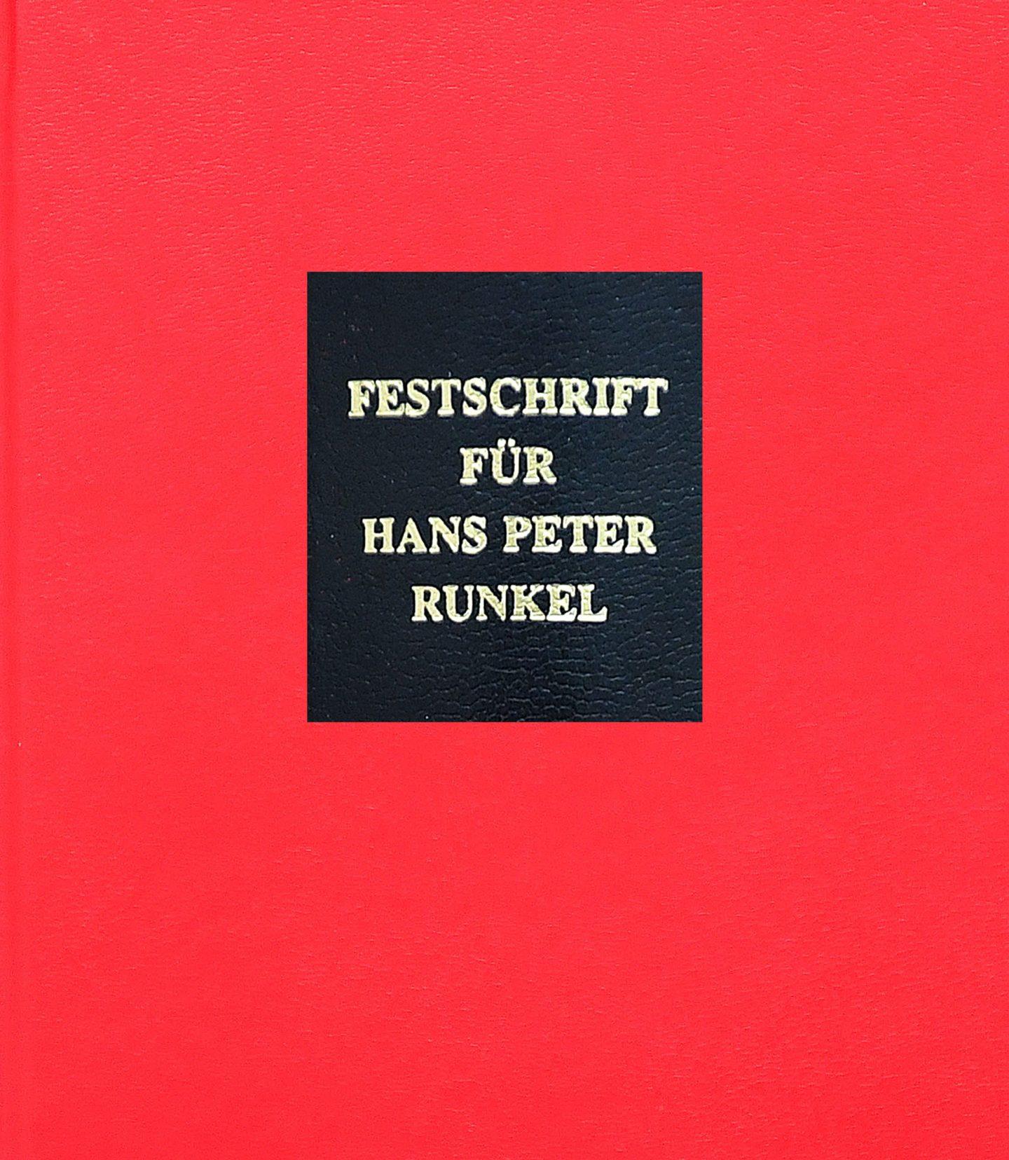 Festschrift Runkel Cover